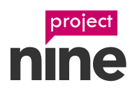 Project Nine Web Design Logo